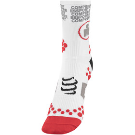 Compressport ProRacing V2.1 Run High Socks Ironman Edition MDot White